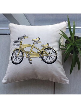 European Cotton Bicycle Print Pillowcase