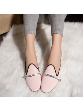 Bowknot Decorated With Chunky Heel Pumps