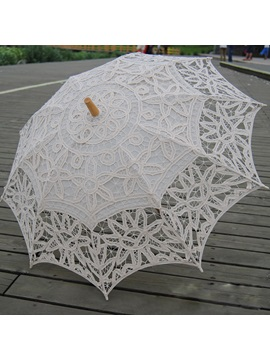 Cheap Ivory Lace Wedding Umbrella