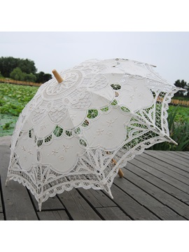Fancy Ivory Wedding Lace Parasol