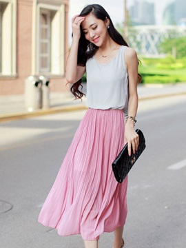 European Style Joint Maxi Dress