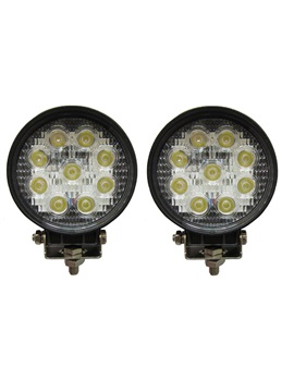 Autvivid 27w 9led Round Work Flood Pencil Beam Lamp Boat Led Offroad Light Automotive Led Driving Light For Truck 12 24v 4wd 4x4 2x 27w Work Light