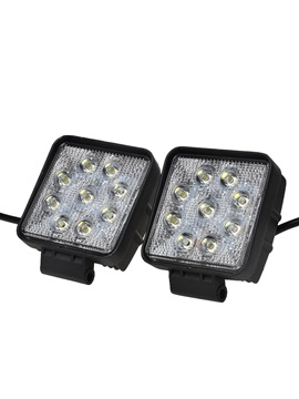 Autvivid 27w Square Shape 30 Degree Led Work Light Spot Lamp Pack Of 2