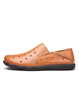 Perforated Soft Leather Mens Shoes