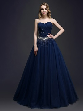 Dramatic Sweetheart Beading Sequins Lace Up Long Quinceanera Dress