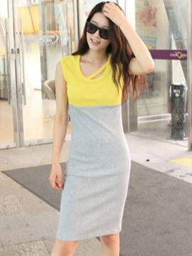 Casual Pieced Bodycon Dress