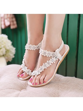 New Fashion Bohemia Flower Comfortable Flat Sandals