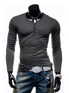 Casual Slim Fit V Neck Men Polo