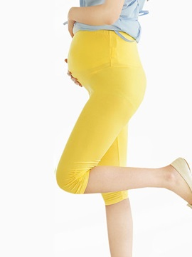 Solid Color Belly Holder Maternity Leggings