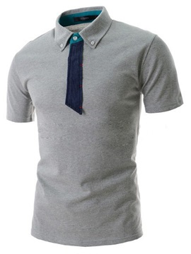 Hot Sale Short Sleeve Men T Shirt With Fake Tie