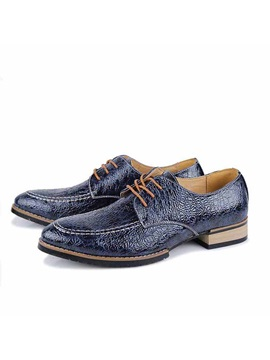Crackle Pattern Mens Dress Shoes