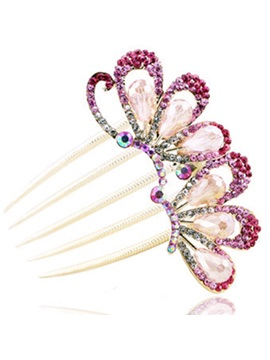 Elegant Multicolor Decorated Womens Hairpin