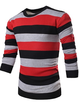 Fashion Striped Long Sleeve Men Sweaters