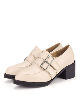 Pointed Toe Buckles Classic Pumps