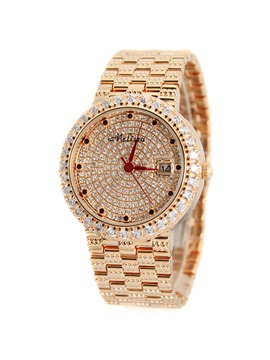 Exquisite Crystal Decorated Chain Watch
