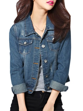 Splendid Solid Color Denim Jacket