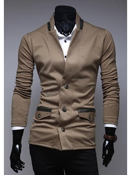 Slim Fit Three Button Notch Collar Jacket