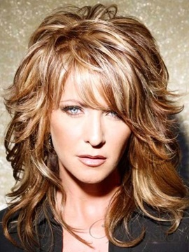 Shoulder Length Layered Wavy Capless Human Hair Wig 14 Inches