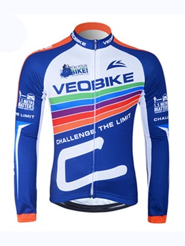 Front Zipper Long Sleeve Sports Wear Cycling Jersey