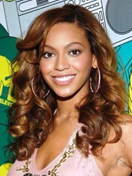 Beyonce Long Deep Wave Lace Front Synthetic Wig 18 Inches