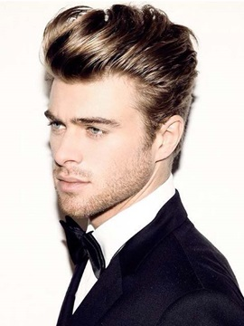 New Trend Short Straight Full Lace Human Hair Wig For Men