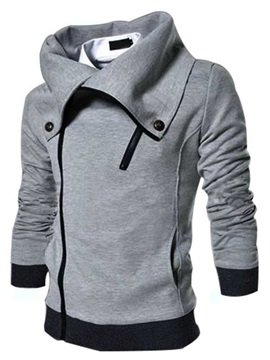 Fashion Lapel Long Sleeve Men Hoodie