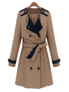 New Double Breasted Slim Trench Coat