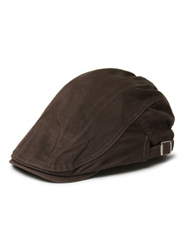 Handsome With Belt Peaked Cap For Men