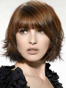 Youthful Bob Straight Hairstyle Capless Synthetic Wig 10 Inches