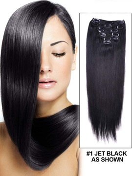 New Arrival Straight Hairstyle 7 Pcs Clip In Human Hair Extensions