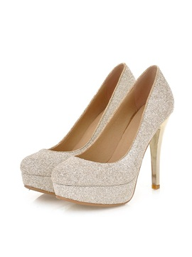 Full Sequin Platform Womens Prom Shoes
