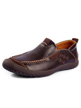 Thread Round Toe Mens Shoes
