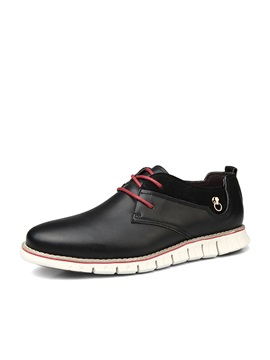 Solid Color Round Toe Mens Shoes