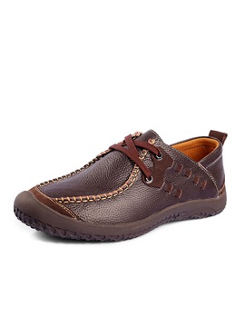 Round Toe Thread Lace Up Mens Shoes