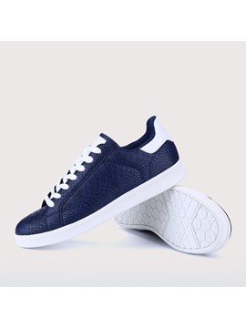 Embossed Lace Up Mens Sneakers