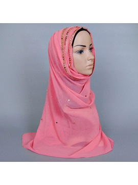 Rhinestone Decorated Womens Hijab Shawl