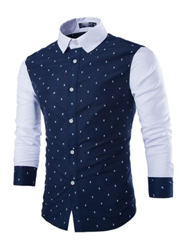 Lapel Skull Cotton Shirt
