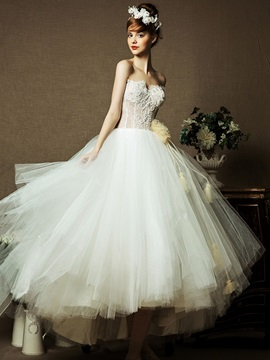Ankle Length Ball Gown Sweetheart Designer Wedding Dress