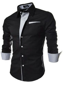 Top Quality Fashion One Pocket Men's Shirt