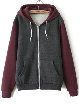 Casual Big Pocket Zipper Hoodie