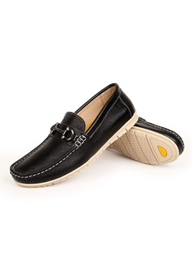 European Pu Square Toe Mens Shoes