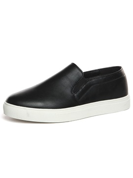 Black Pu Mens Loafers