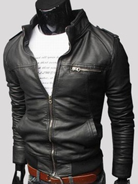 Top Quality Fashion Zipper Mens Coat