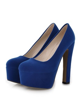 Solid Color Suede Womens Prom Shoes