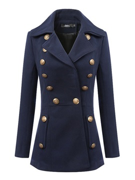 Cool Button Decoration Slim Trench Coat