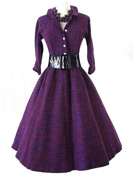 Vintage Wind 3 4 Sleeve Ball Gown Dress