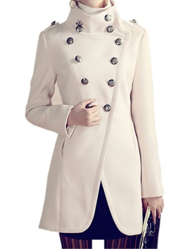 Special Double Breasted High Collar Trench Coat