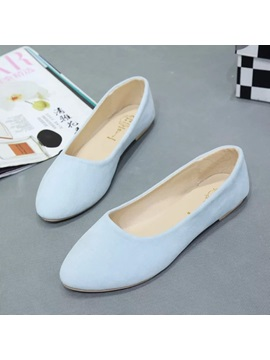 Candy Color Suede Womens Flats
