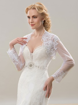 Long Sleeve Lace Bridal Jacket