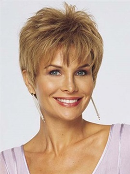 Youthful Short Layered Straight Capless Synthetic Wig